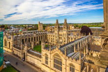 High Angle View Of King's College Chapel, UK