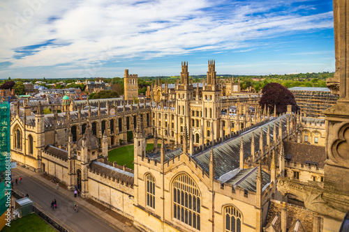 Photo High angle view of King's College Chapel, UK