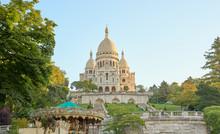 Famous Basilica Sacre-Coeur At Montmartre In Paris