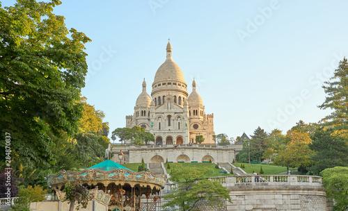 Photo  Famous basilica Sacre-Coeur at Montmartre in Paris