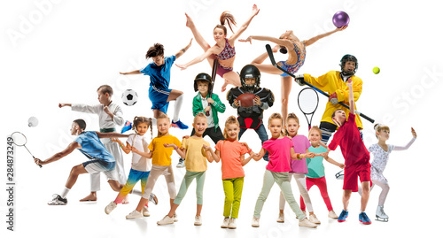 Obraz na plátne Creative collage of photos of 17 models