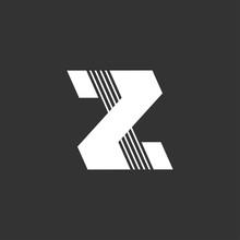 Letter Z Stripes Geometric Log...