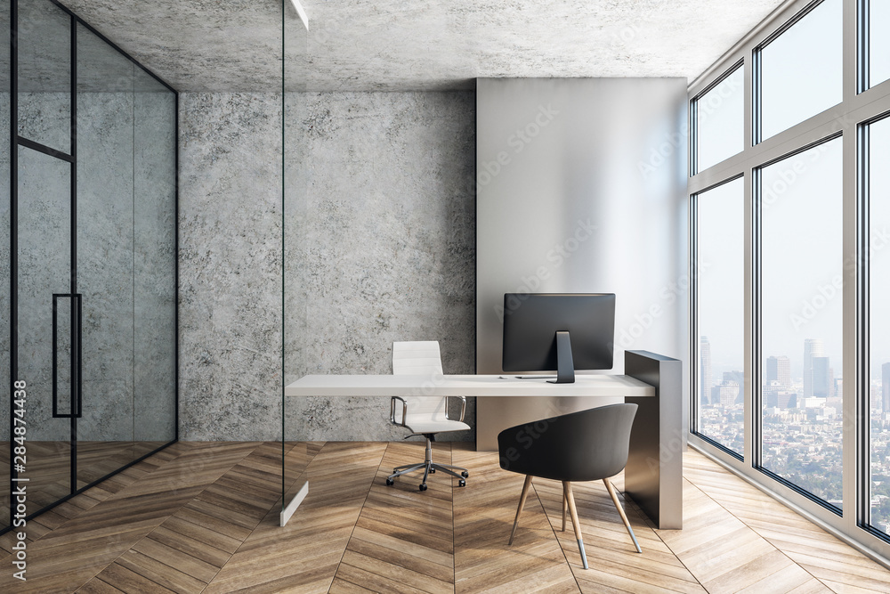 Fototapety, obrazy: Supervisor workplace in a modern interior. 3d rendering