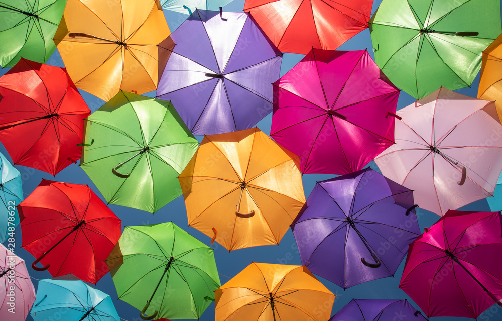 Fototapeta Colorful Umbrellas Urban Street Decoration