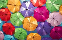 Colorful Umbrellas Urban Street Decoration