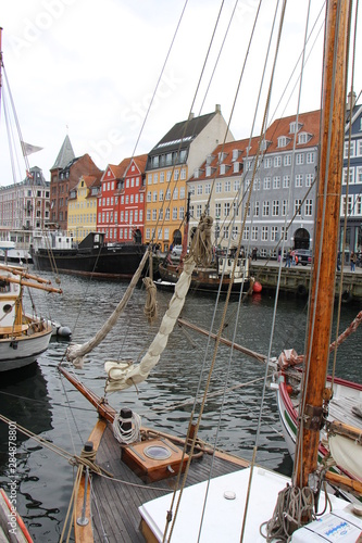 Copenhague Nyhavn Wallpaper Mural