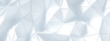White background with crystals, triangles. 3d illustration, 3d rendering.