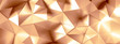 Golden background with crystals, triangles. 3d illustration, 3d rendering.