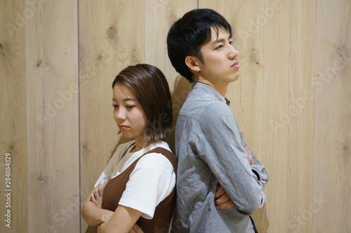 ケンカするカップル Fototapet