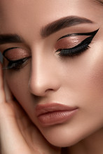 Luxury Woman Make-up With Gold...