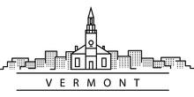 Vermont City Line Icon. Elemen...