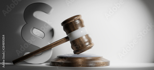 Pinturas sobre lienzo  paragraph and wooden judge gavel 3d-illustration