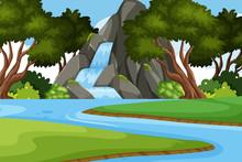 Landscape Background Design Wi...