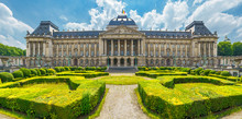 Royal Palace In City Of Brussels In Belgium At Sunny Summer Day