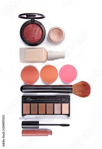 Obraz na plátně  Cosmetics set isolated on white