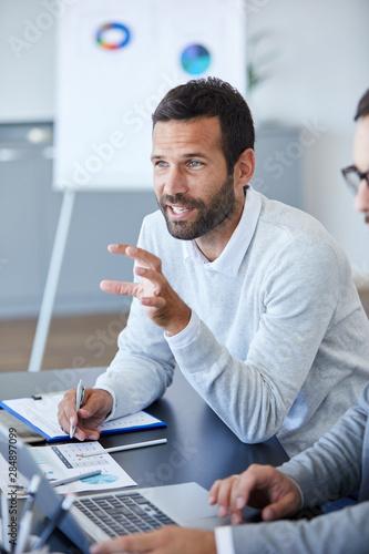 Obraz businessman office portrait corporate meeting - fototapety do salonu