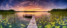 Beautiful Summer Sunrise Over ...