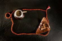 Mate Tea Bowl And Prayer Beads