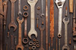 canvas print picture - Vintage tools