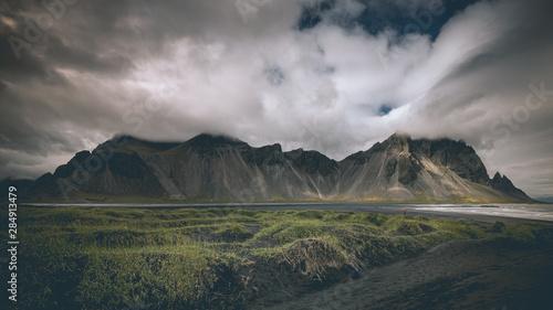 Foto auf Leinwand Rosa dunkel Iceland