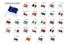 Set Of European Union Country ...