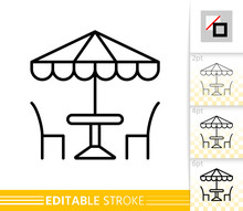 Street Cafe Umbrella Table Cha...