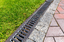 Iron Grate Of A Drainage Syste...