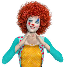 Doll Clown Doing The Heart Han...