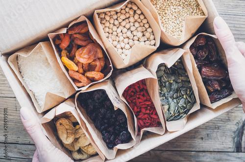 Fotografia Zero Waste Food Storage Eco Bag Top View