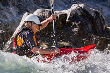 Woman Kayaking In Buller River...