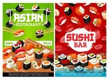 Asian Sushi Rolls Bar, Japanese Restaurant Menu