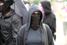 ANTIFA Supporter At A Protest ...