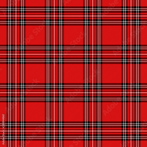 Photo sur Toile Les Textures Christmas new year Tartan. Pattern Scottish cage
