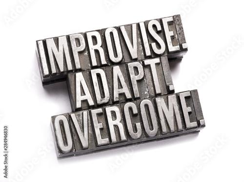 Improvise, adapt, overcome Wallpaper Mural