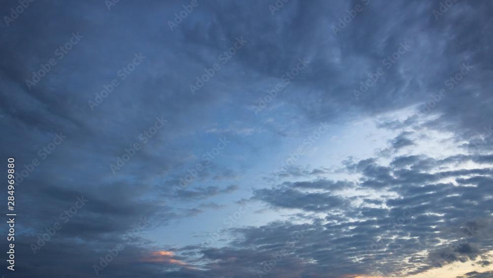 Fototapeta dramatic sky with clouds
