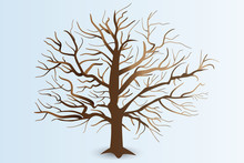 Tree With Stylized Branches Logo Vector Web Design