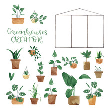 Watercolor Greenhouse CREATOR ...