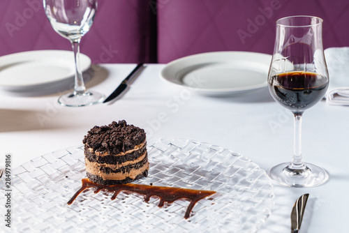 chocolate cake with sherry