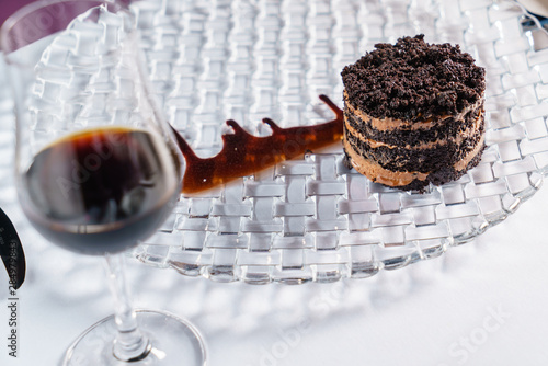 chocolate cake with sherry Fototapeta