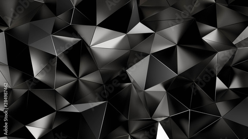 Abstract triangle crystal background. 3d illustration, 3d rendering.