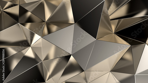 Abstract triangle crystal background. 3d illustration, 3d rendering. - 284988056