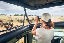 Woman On An African Safari Tra...