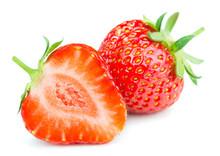 Fresh Strawberry Isolated On W...