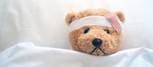 Teddy Bear And Bandage. Injury...