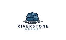 River And Stone Logo Design