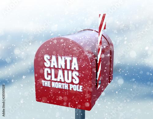 Obraz na plátně  Santa Mailbox