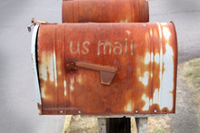 Old Rusty Mail Box