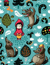 Little Red Riding Hood Seamles...