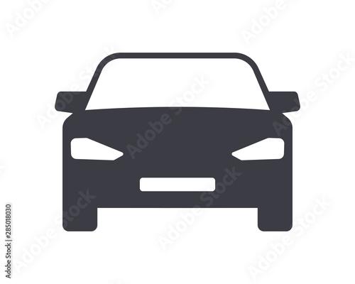 Fototapeta Car symbol icon isolated on white background obraz