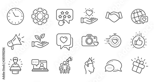 Photo Brand ambassador line icons